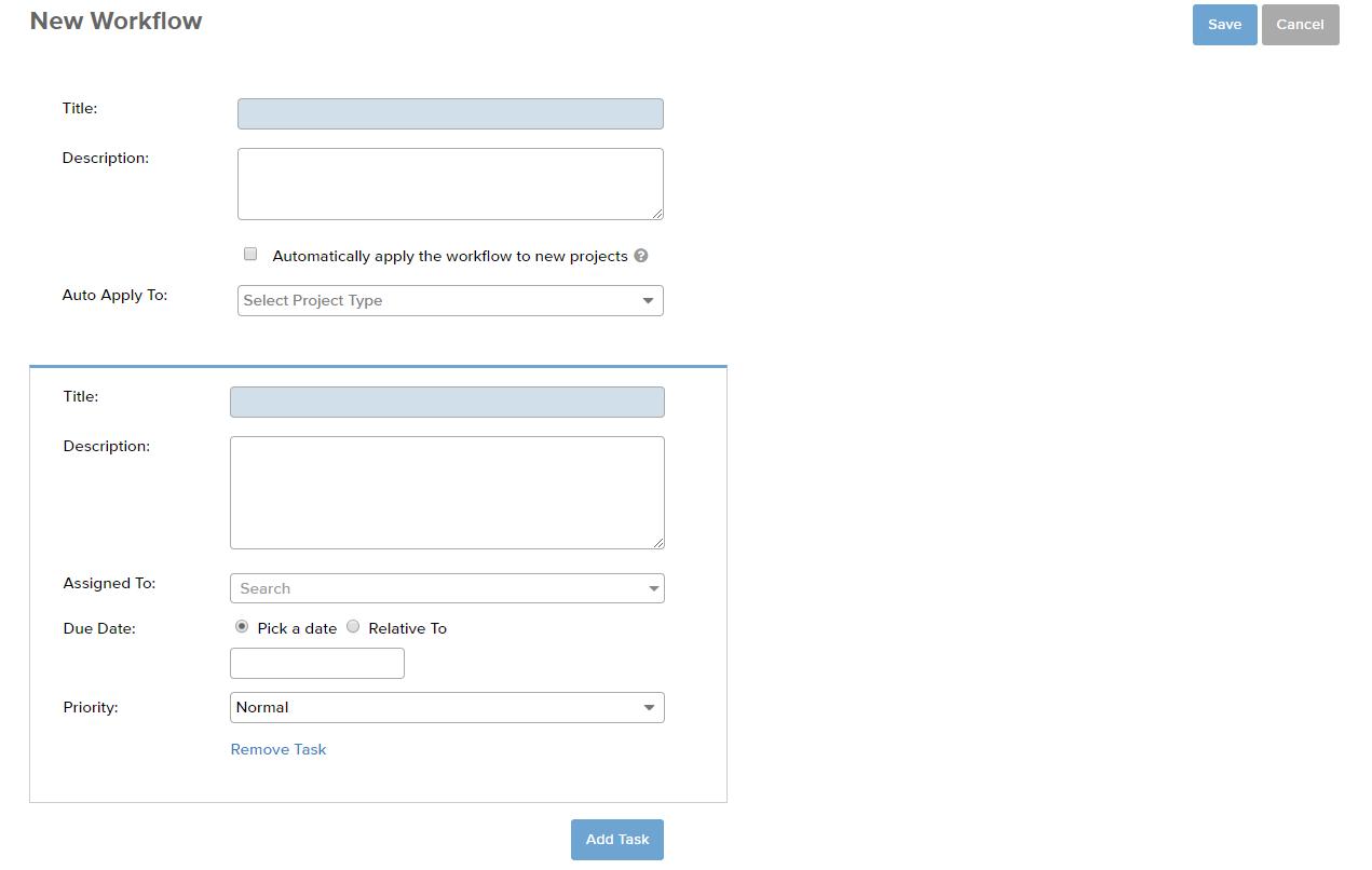 Bill4Time Tasks Workflow Screenshot