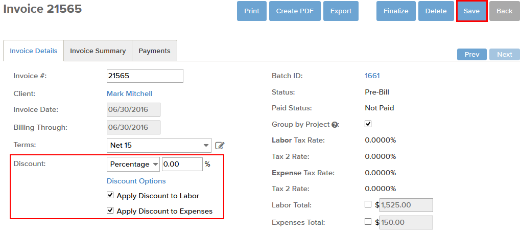 How Do I Add A Discount On An Invoice BillTime Support - Invoice amount
