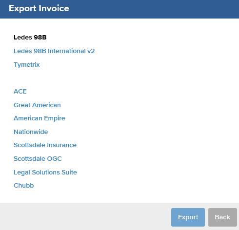 How Do I Make An Invoice In A LEDES Format BillTime Support - Ledes invoice generator